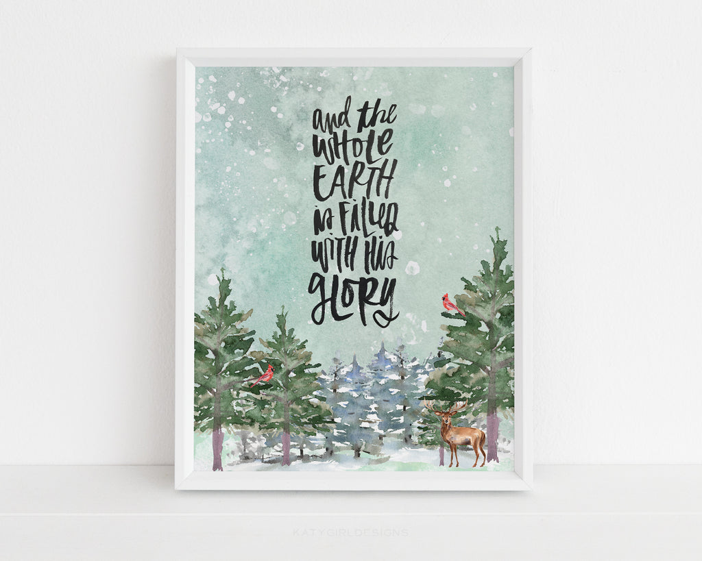 The Whole Earth Is Filled Christmas Print