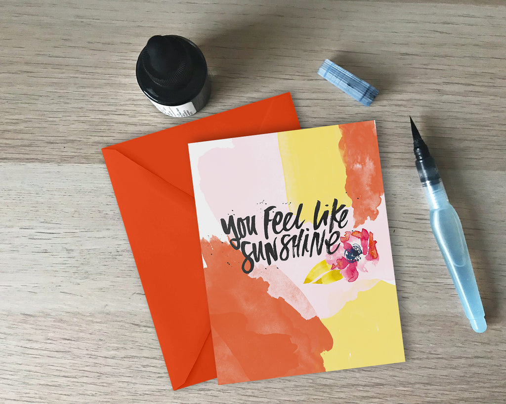 You Feel Like Sunshine Greeting Card