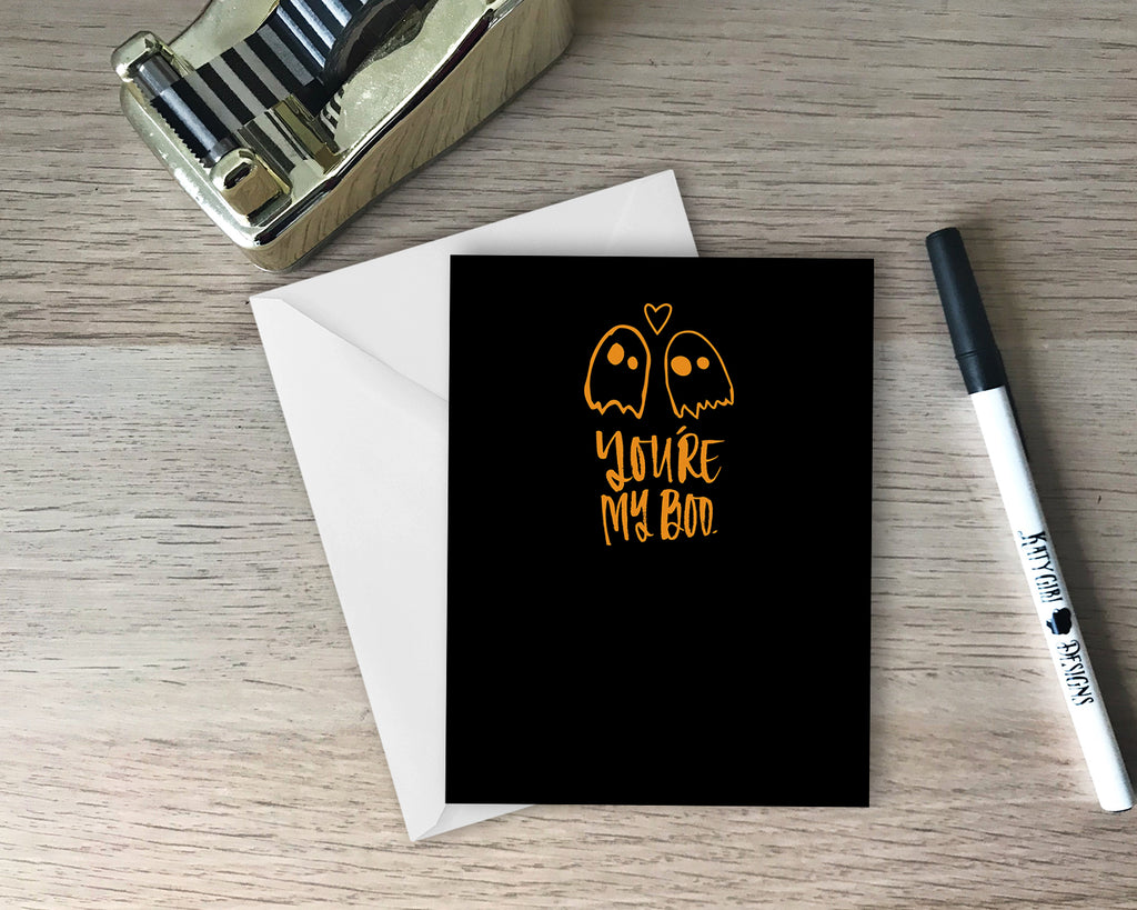 You're My Boo Halloween Greeting Card
