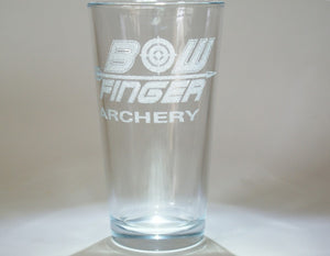 archery pint glass