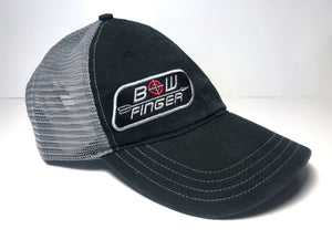 BOWFINGER BLACK/CHARCOAL RELAXED HAT WITH PATCH