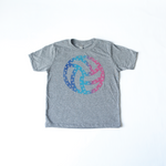 Volleyball Stars Multicolor Kids Tee