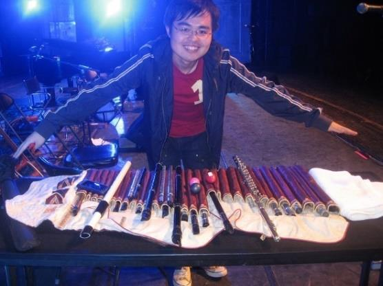 Jay with Joannie Madden's Irish Tin Whistle Collection
