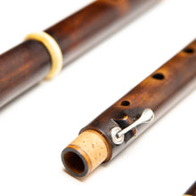 Patrick Olwell Restored Asa Hopkins Boxwood Ivory & Silver 4-Key Flute