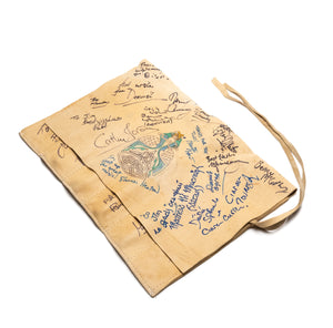 Leather Whistle Case Signed by Various Artists