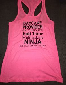 Daycare Provider Tank Top, Nanny, Women's Shirt