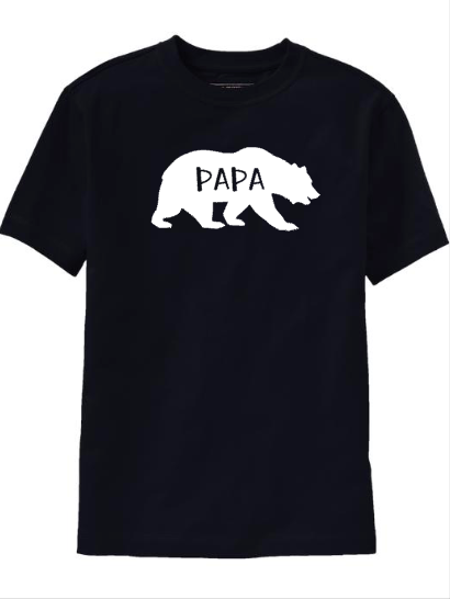Men's Papa Bear Shirt, Matching Family Shirts