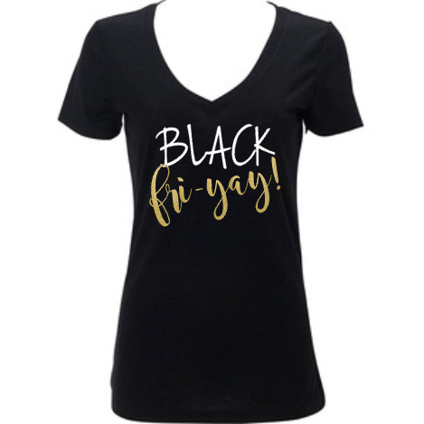 Black Friyay Friday Women's Shirt, Holiday Shopping