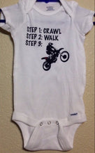 Crawl Walk Ride Baby Onesie, Motorcycle Dirtbike Riding, Baby Shower