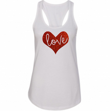 Women's LOVE Shirt, Tank Top, Valentine's Day, Glitter