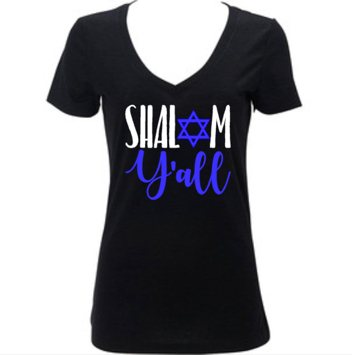 Shalom Y'all, Women's Happy Hanukkah Shirt