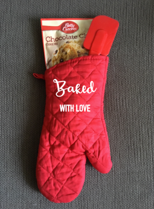 Baked With Love, Personalized Kitchen Oven Mitt