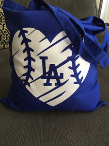 Dodgers LA Tote Bag, Baseball Los Angeles