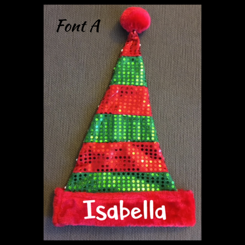 Personalized Santa Elf Hats, Merry Christmas