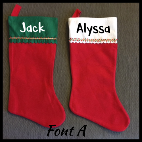 Personalized Christmas Stockings, Holiday Decor, Santa Claus