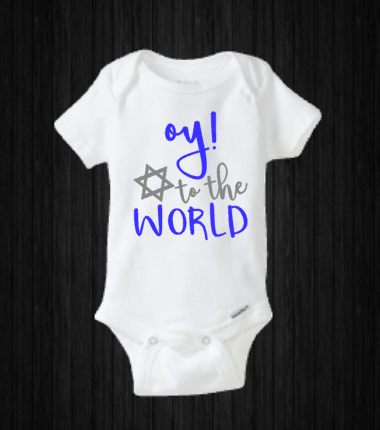 Baby Hanukkah Onesie, Oy to the World, My First Holiday