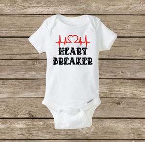 Heart Breaker Baby Boy Onesie, Valentine's Day Shirt