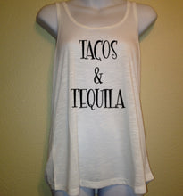 Tacos & Tequila Tank Top, Women's Shirt