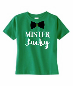 Mister Lucky Shirt, Baby Boy Onesie, St Patrick's Day