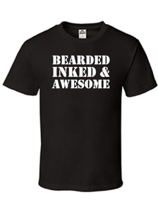 Bearded Inked & Awesome, Funny Men's Shirt