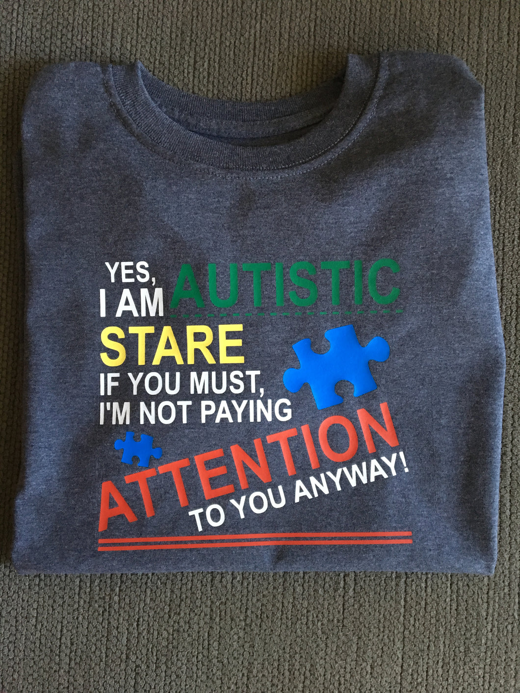 Yes I am Autistic, Kids Shirt, Boy or Girl, Autism Awareness