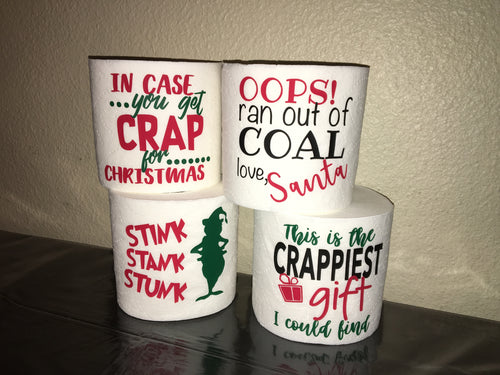 Toilet Paper Funny Gag Gift, Christmas Exchange