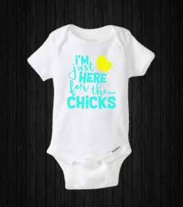 I'm Just Here For The Chicks, Boys Easter Onesie Shirt