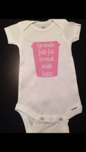 Breast Milk Latte Baby Onesie, Baby Shower Gift, Breastfeeding