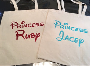 Princess Tote Bag | Disney Princess Bag | Custom Tote Bag | Canvas Bag