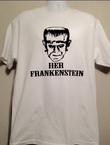 Her FRANKENSTEIN, Men's HALLOWEEN Shirt, Couples Shirts