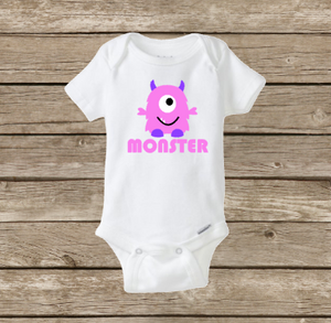 Monster Onesie, Baby Boy or Girl Cute Shirt, Baby Shower