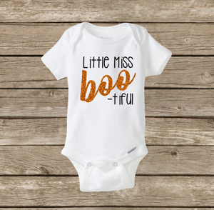 Little Miss Bootiful Onesie, Baby Girl Halloween