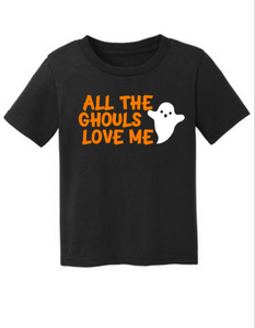 All The Ghouls Love Me, Boys Cute Halloween Shirt