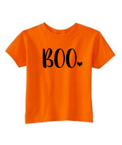 Girls Cute Halloween Shirt, BOO, Happy Halloween