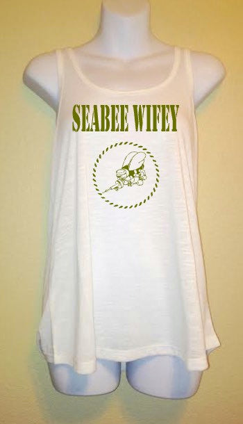 Seabee Wifey | Women's Tank Top | Naval, Navy, United States of America, USA