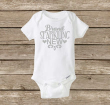 Brand Sparkling New Onesie | Baby Onesie, Baby Shower, New Baby | Baby Girl Shirt