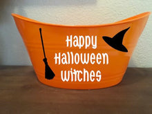 Halloween Bucket, Happy Halloween Witches, Holiday Gift Baskets