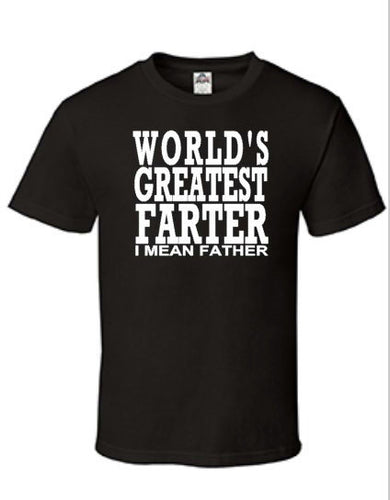 Men's Shirt World's Greatest Farter, Funny Father's Day Shirt