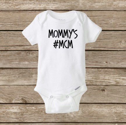 Baby Boy Onesie, Mommy's Man Crush Monday Hashtag