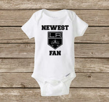 LA Kings Onesie | Newest Kings Fan, Los Angeles Kings, Hockey | LA Kings Shirt, Baby Shower, Hockey Onesie, Baby Onesie