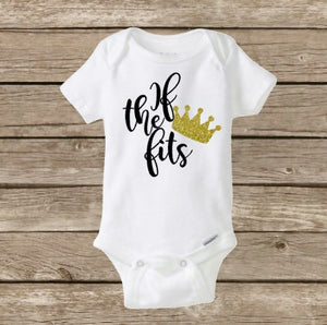 If The Crown Fits, Baby Girl Onesie, Princess Diva, Baby Shower Gift, Birthday