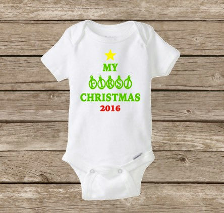 My First Christmas Onesie, Baby's First 2017