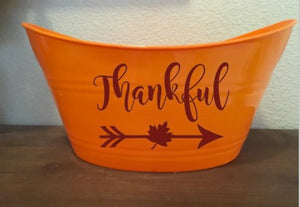 Thankful Basket, Fall Thanksgiving Gift Bucket, Fall Home Decor, Gift Baskets