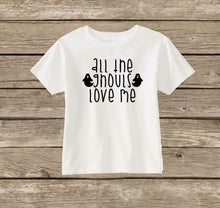 Toddler Boys Halloween Shirt, All The Ghouls Love Me, Boys Ghost Shirt