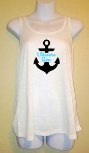 Vitamin Sea, Womens Racerback Tank Top, Beach Life Shirt, Summer Anchor Nautical