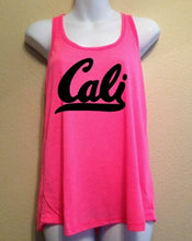 Cali Tank Top, Women's Racerback Tank, California, Women's Shirt, SALE, Summer Tank