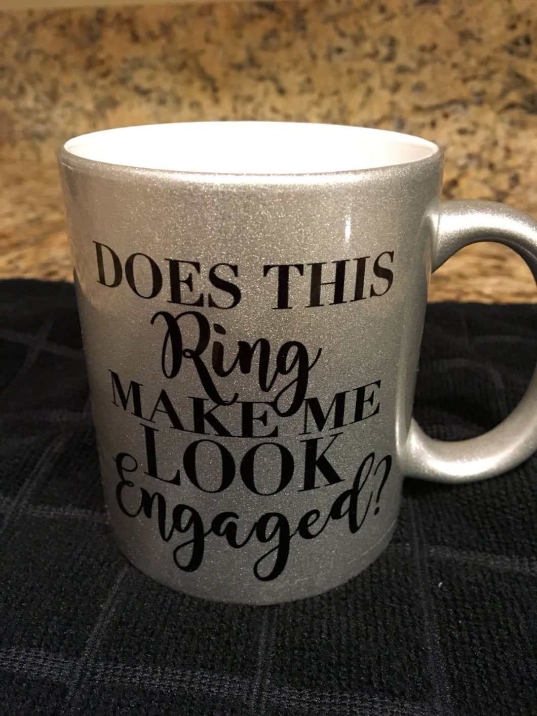 Does This Ring Make Me Look Engaged, Coffee Mug, Wedding, Getting Married, Proposal, Wedding Announcement