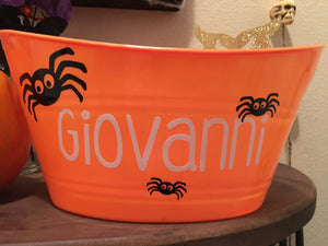 Personalized Kids Halloween Basket, Gift Baskets