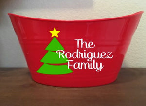 Christmas Basket Bucket, Family Gift