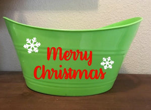 Merry Christmas Basket, Christmas Bucket, Happy Holidays, Christmas Gift, Storage Organization